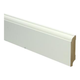 MDF Eigentijdse plint 70×15 wit voorgel. RAL 9010