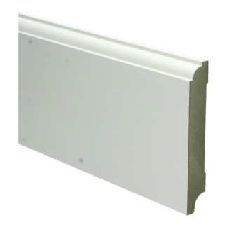 MDF Eigentijdse plint 115×18 wit voorgel. RAL 9010