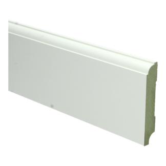 MDF Eigentijdse plint 90×15 wit voorgel. RAL 9010