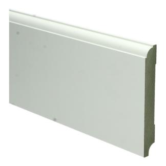 MDF Eigentijdse plint 120×15 wit voorgel. RAL 9010