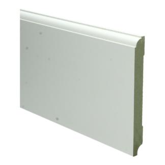MDF Eigentijdse plint 150×15 wit voorgel. RAL 9010