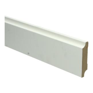 MDF Retro plint 70×15 wit voorgelakt RAL 9010