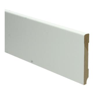 MDF Moderne plint 90×12 wit voorgelakt RAL 9010