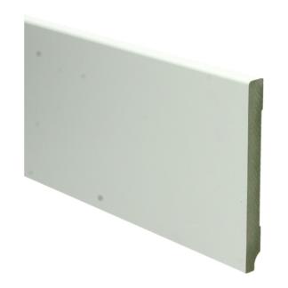 MDF Moderne plint 120×12 wit voorgelakt RAL 9010