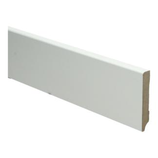 MDF Moderne plint 70×12 wit voorgelakt RAL 9010