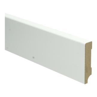 MDF Moderne plint 70×15 wit voorgelakt RAL 9010