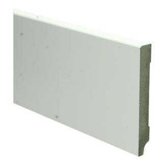 MDF Moderne plint 120×15 wit voorgelakt RAL 9010