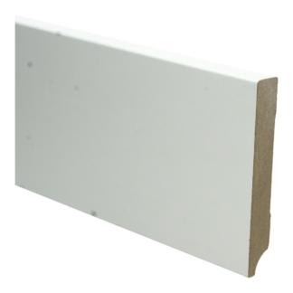 MDF Moderne plint 120×18 wit voorgelakt RAL 9010