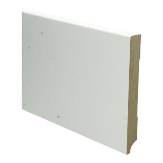 MDF Moderne plint 150×18 wit voorgelakt RAL 9010