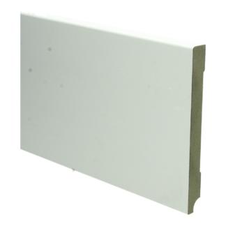 MDF Moderne plint 150×15 wit voorgelakt RAL 9010