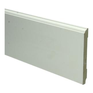 MDF Eigentijdse plint 120×12 wit voorgel. RAL 9010