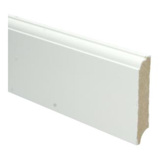 MDF Eigentijdse plint 90×18 wit voorgel. RAL 9010