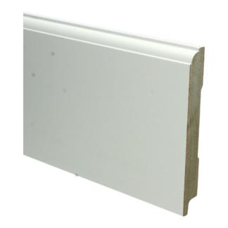 MDF Eigentijdse plint 150×18 wit voorgel. RAL 9010