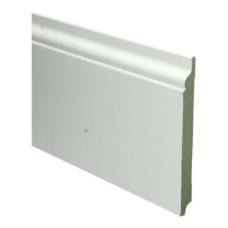 MDF Romantische plint 190×18 wit voorgel. RAL 9010