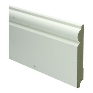 MDF Barok plint 120×15 wit voorgel. RAL 9010