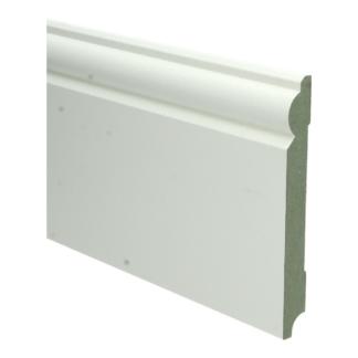 MDF Barok plint 150×18 wit voorgelakt RAL 9010