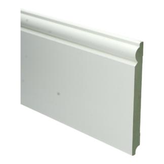 MDF Barok plint 190×18 wit voorgelakt RAL 9010