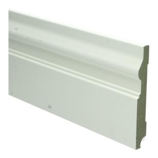 MDF Renaissance plint 120×15 wit voorgel. RAL 9010