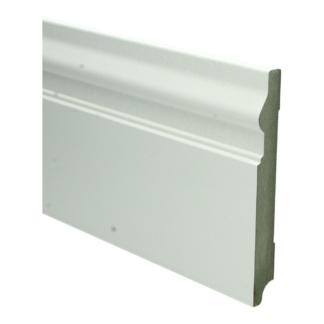 MDF Renaissance plint 150×18 wit voorgel. RAL 9010