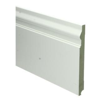 MDF Renaissance plint 190×18 wit voorgel. RAL 9010
