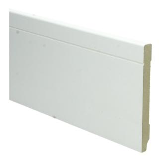 MDF Tijdloze plint 120×12 wit voorgelakt RAL 9010