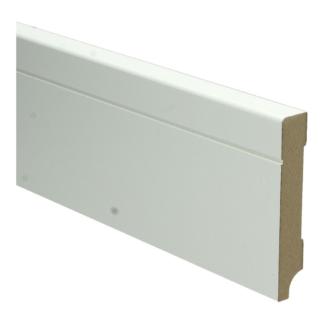 MDF Tijdloze plint 90×15 wit voorgelakt RAL 9010