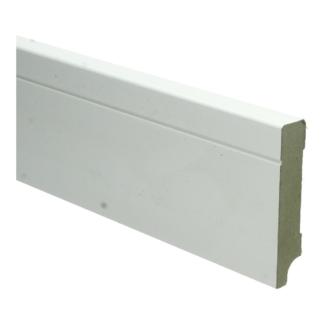 MDF Tijdloze plint 90×18 wit voorgel. RAL 9010