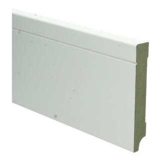MDF Tijdloze plint 120×18 wit voorgel. RAL 9010