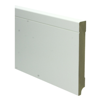 MDF Tijdloze plint 150×18 wit voorgel. RAL 9010