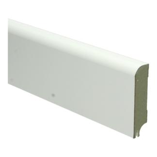 MDF Koloniale plint 76×18 wit gel.   uitsparing