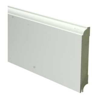 MDF Eigentijdse plint 115×18 wit gel.   uitsparing