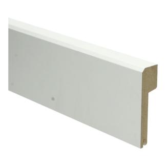 MDF Klassieke plint 85×22 wit gel.   uitsparing