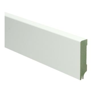 MDF Moderne plint 70×15 wit gel.   uitsparing