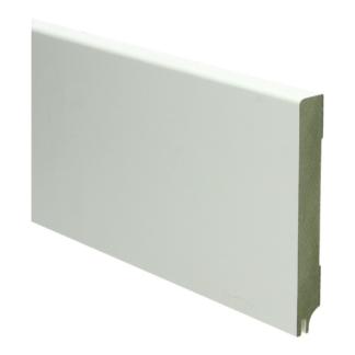 MDF Moderne plint 120×15 wit gel.   uitsparing