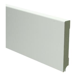 MDF Moderne plint 120×18 wit gel.   uitsparing