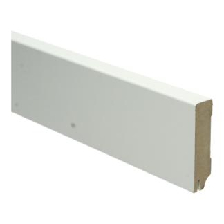 MDF Moderne plint 70×18 wit gel.   uitsparing
