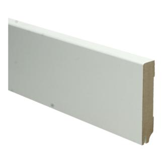 MDF Moderne plint 90×18 wit gel.   uitsparing