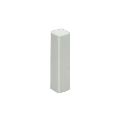 Hoek/eindstuk t.b.v. MDF plint 70×15 wit RAL 9010