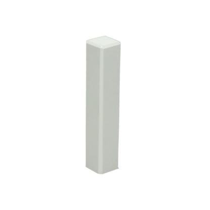 Hoek/eindstuk t.b.v. MDF plint 90×15 wit RAL 9010