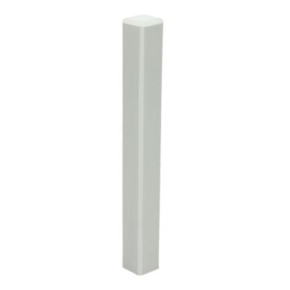 Hoek/eindstuk t.b.v. MDF plint 150×15 wit RAL 9010