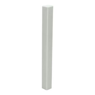 Hoek/eindstuk t.b.v. MDF plint 190×15 wit RAL 9010