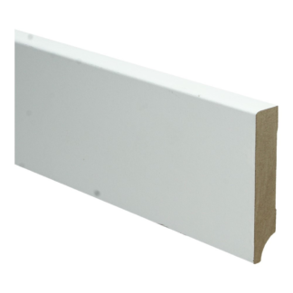 BL MDF plint 90×18 V313 wit gegrond recht